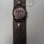 Brown Leather Watch Band & Watch