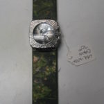 Camouflage Leather Watch Band & Watch