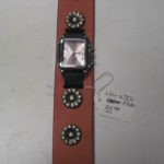 Pink Leather Watch Band & Watch
