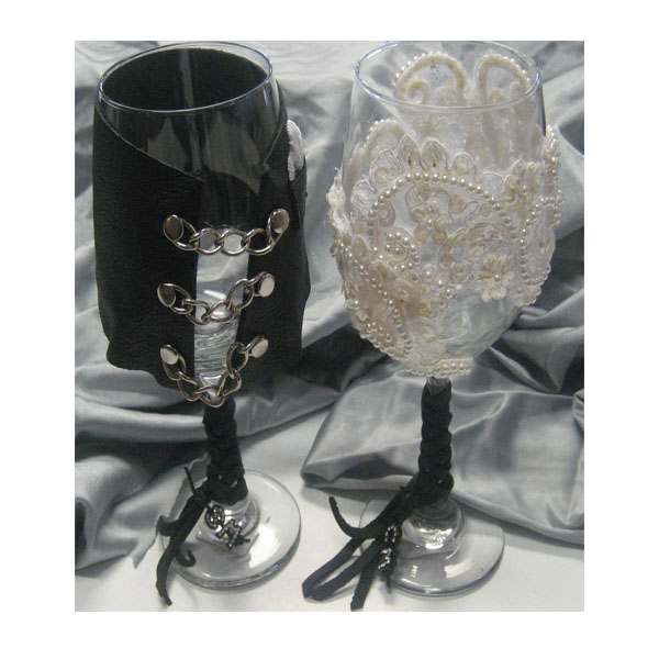 Personalized Wedding Goblets Bride And Groom