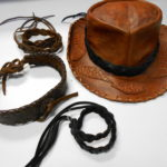 leather braided hat band